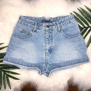 Zana-di vintage light blue high waisted shorts